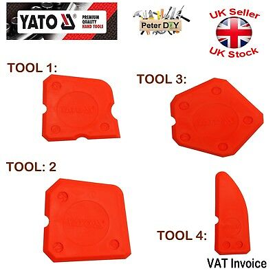 Yato Silicone Sealant Spreader Profile Applicator Tile Tool Kit YT-5261 Packs