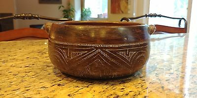 Antique African Pot - Certified Antique - Etched Art Very Unique 1920's