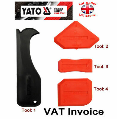 Yato Silicone Sealant Spreader Finishing Kit Tools 4 pcs YT-5262 Packs
