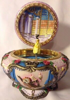 Vintage Walt Disney Beauty and The Beast Music and Jewelry Box
