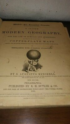 mitchells new intermediate geography book with maps 1883