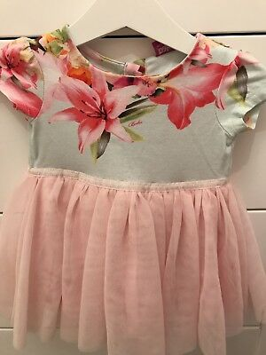 Ted Baker Baby Girl Floral Tutu Dress 3-6 Months