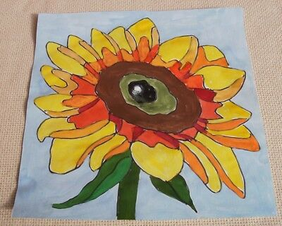 Rug Hooking Pattern on Monks Cloth ~ SUNFLOWER