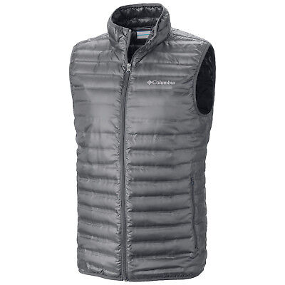 "New Mens Columbia ""Flash Forward"" 650 Fill Down Omni-Heat Vest"
