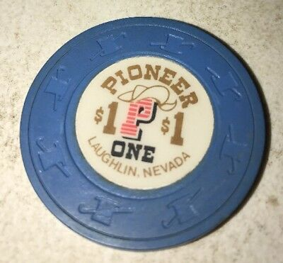 Pioneer Hotel $1 Casino Chip Laughlin Nevada 2.99 Shipping
