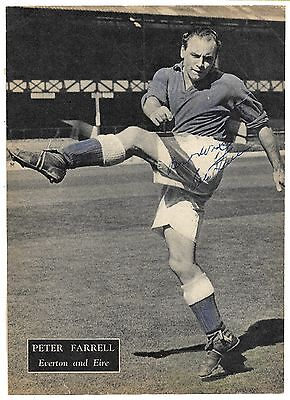 Everton - Peter Farrell Signed / Eire
