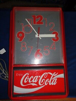 1992 Coca Cola Electric Regulator Style Wall Clock 22'x13'