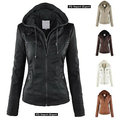 Giacca Giubbotto Donna Similpelle PU Leather Woman Jacket JAC0022 P
