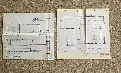 2 Blueprints Map Grossinger's Conference Center Playhouse Liberty NY Sullivan