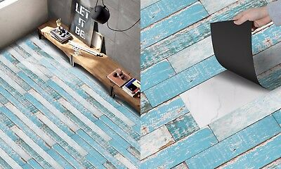 Self Adhesive Tile Art DIY Wood Floor Wall Sticker Kitchen Bathroom Living Room