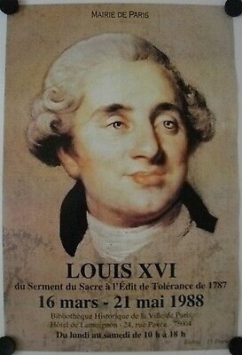 Affiche LOUIS XVI - 1988 Exposition Paris
