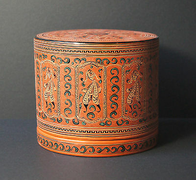 Vintage Laquer Ware Box Set from Myanmar Burma