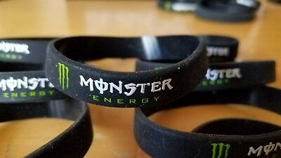 Monster Energy Black Silicone Wristbands LOT OF 8