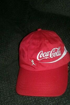 Coca cola hat/cap (Baseball)  red recycled