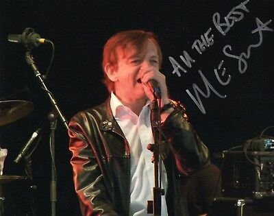 Authentic Signed Mark E Smith The Fall 10 X 8 Photo...real Signature...coa.