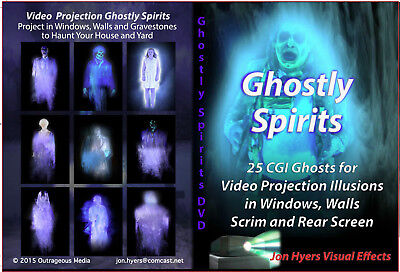 Ghostly Spirits Halloween Window Projection Dvd 2015 Jon Hyers