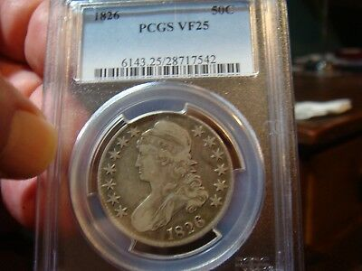 1826 Capped Bust  Half - PCGS VF-25 - NO PROBLEMS !!!