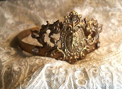 Vintage French Style Filigree Angel Tiara Crown