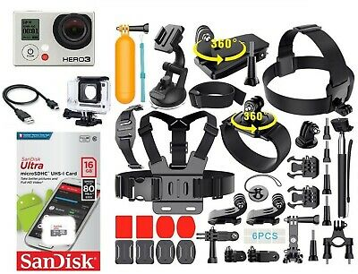 GoPro HERO3 BLACK Edition Action Camera + Accessory Bundle (40+ PCS) CHDHX301