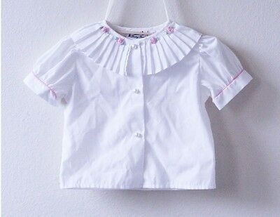 Vintage Toddler Rosette Blouse