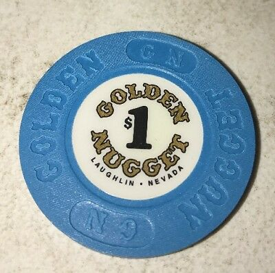Golden Nugget $1 Casino Chip Laughlin Nevada 2.99 Shipping