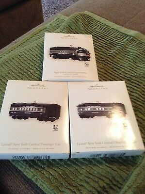 Hallmark 2008 set of 3 Lionel Trains
