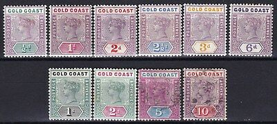 Gold Coast - Scott 26 - 35 - Complete Queen Victoria Set - Look!