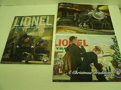 (3) 2011 LIONEL TRAINS CATALOGS Signature Edition, Ready to Run, Christmas