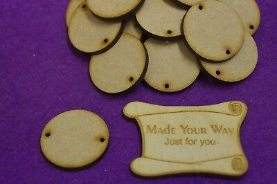 3mm MDF 8.9cm Round Circle Cake Topper 3.5inch Hoops on Sticks with Number