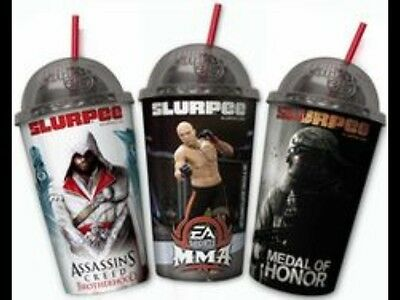 Medal of Honor Assassins Creed Sports MMA Play Station 3D Hologram Slurpee Cups