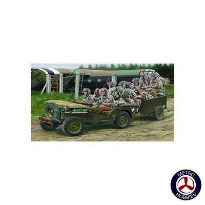 Bronco 1/35 British Airborne Troops Riding 1/4ton Truck and Trailer CB35169 Bran