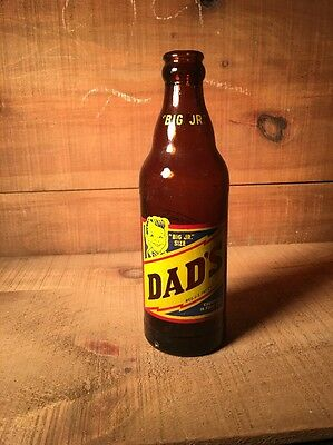 Big Jr Size Dads Rootbeer Bottle 10 Fluid Ounce