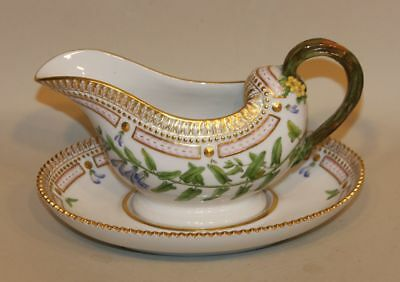 Royal Copenhagen Flora Danica Gravy Sauce Boat with Attached Liner 3556 (AS IS)