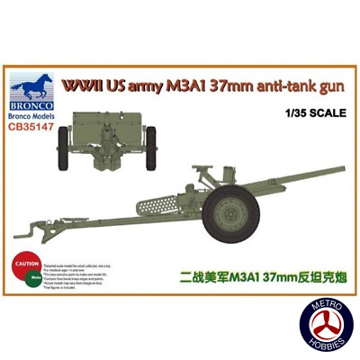 Bronco 1/35 WWII US Army M3A1 37mm AT Gun CB35147 Brand New