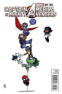 Captain America And Mighty Avengers #1 Young Variant A Marvel 2014 Comic Nm