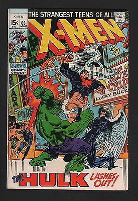 X-Men #66 F- 5.5  Off White to White Pages Last New Story