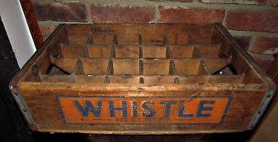vtg divided wooden whistle soda crate country store advertising new britain ct