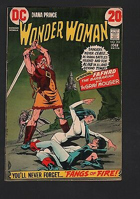 Wonder Woman #202 VG 4.0 Off White Pages