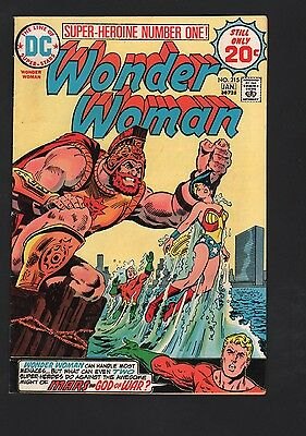 Wonder Woman #215 F 6.0 Off White to White Pages