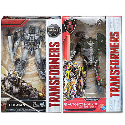 Hasbro Transformers MV5 Last Knight Premier Ed Deluxe W3 Cogman + Hot Rod Set AU