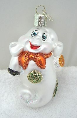 "Older Old World Christmas Halloween Ornament Ghost 3 3/8"" x 1 3/4"""