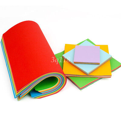 100 Sheets Mixed Colors Square Folding Crane Origami DIY Craft Lucky Wish Paper