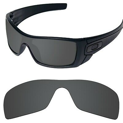 Tintart Replacement Lenses for-Oakley Batwolf Sunglasses Carbon Black (STD)