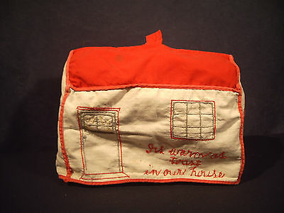 Embroidered Toaster Cover Shopping Bag Dresser Organizer Lot of 3 Hand Made