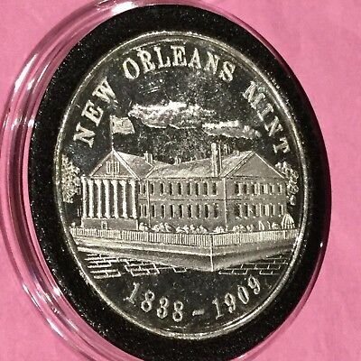 New Orleans Mint S.E.I. 1 Troy Oz .999 Fine Silver Round Collectible Rare Coin