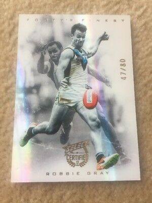 2017 Select AFL Certified Robbie Gray Footy's Finest 47/80