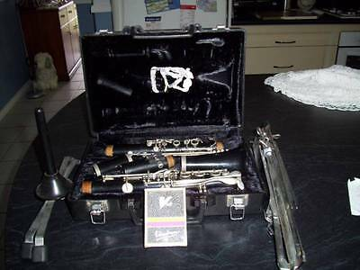Clarinet with Music Stand and Extra reeds