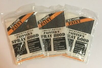 3 PK Painters Spray Hood Sock - Made in USA! -Automotive / Home / Protective