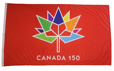 Canada 150 Year Anniversary 1867-2017 Red 3 X 5 Ft Flag Banner