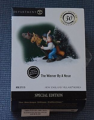 "Department 56 New England Village ""The Winner By A Nose"" Retired, New in Box"